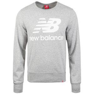Essentials Logo Crew Sweatshirt Herren, grau / weiß, zoom bei OUTFITTER Online