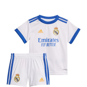 Real Madrid Minikit Home 2021/2022 Babys, weiß / blau, zoom bei OUTFITTER Online