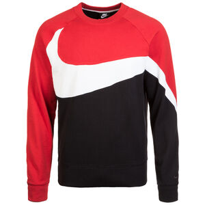 Statement Crew Sweatshirt Herren, schwarz / rot, zoom bei OUTFITTER Online