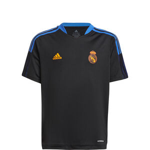 Real Madrid Trainingsshirt Kinder, schwarz / blau, zoom bei OUTFITTER Online