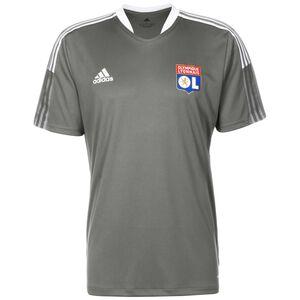 Olympique Lyon Trainingsshirt Herren, dunkelgrau / weiß, zoom bei OUTFITTER Online