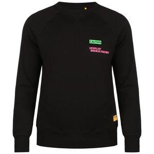 Caterpillar Caution Roundneck Sweatshirt Herren, schwarz / grün, zoom bei OUTFITTER Online