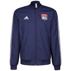 Olympique Lyon Anthem Jacke Herren, dunkelblau / weiß, zoom bei OUTFITTER Online