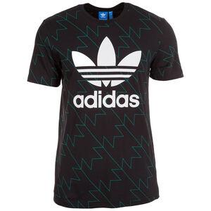 Trefoil AOP T-Shirt Herren, schwarz / grün, zoom bei OUTFITTER Online
