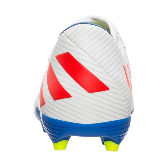 Nemeziz Messi 19.3 FG Fußballschuh Kinder, weiß / rot, zoom bei OUTFITTER Online