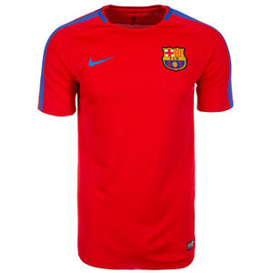 FC Barcelona Dry Squad Trainingsshirt Herren, rot, zoom bei OUTFITTER Online
