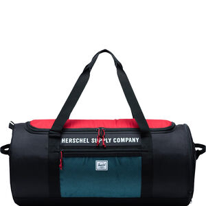 Sutton Carryall Tasche, schwarz / rot, zoom bei OUTFITTER Online