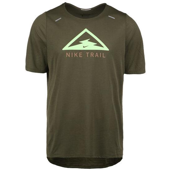 Rise 365 Trail Laufshirt Herren, oliv / hellgrün, zoom bei OUTFITTER Online