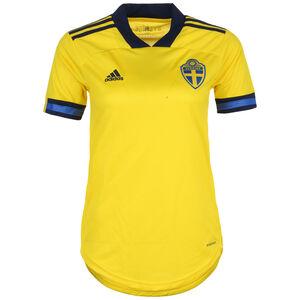 Schweden Trikot Home EM 2020 Damen, gelb / dunkelblau, zoom bei OUTFITTER Online