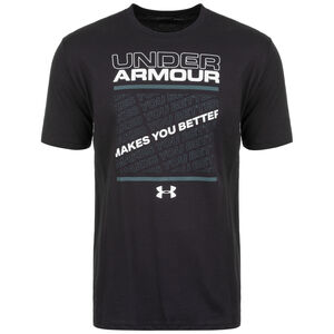 UA Makes You Better Trainingsshirt Herren, schwarz / weiß, zoom bei OUTFITTER Online