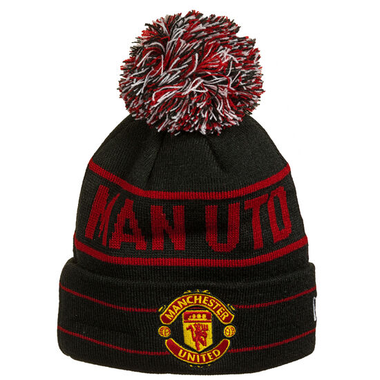 Manchester United Wordmark Cuff Knit Bobble Beanie, , zoom bei OUTFITTER Online