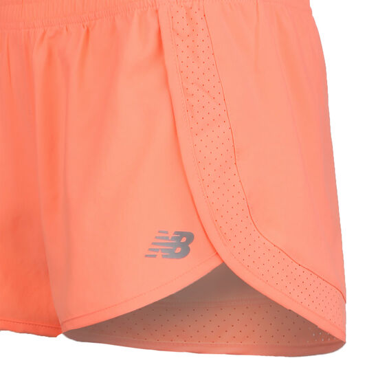 Accelerate Stretch Woven Trainingsshort Damen, korall / neonorange, zoom bei OUTFITTER Online