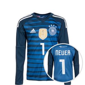 DFB Torwarttrikot Home Neuer WM 2018 Kinder, Blau, zoom bei OUTFITTER Online