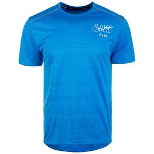Dry Miler Graphic Laufshirt Herren, blau / weiß, zoom bei OUTFITTER Online