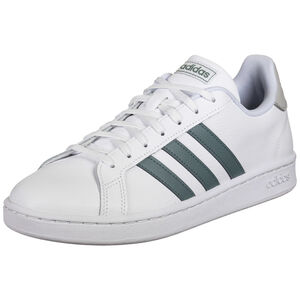 Grand Court Sneaker Herren, weiß / dunkelgrün, zoom bei OUTFITTER Online