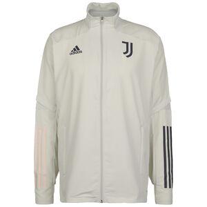 Juventus Turin Präsentationsjacke Herren, hellgrau / dunkelblau, zoom bei OUTFITTER Online