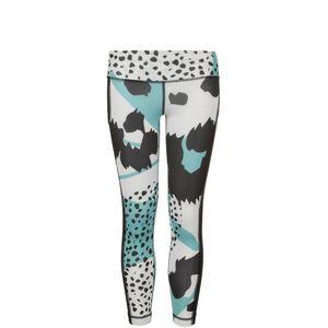 AEROREADY Animal Print External Pocket Stretch Leggings Kinder, weiß / mint, zoom bei OUTFITTER Online