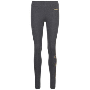 Essentials Branded Leggings Damen, dunkelgrau / gold, zoom bei OUTFITTER Online