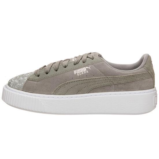 Suede Platform Pebble Sneaker Damen, Grau, zoom bei OUTFITTER Online