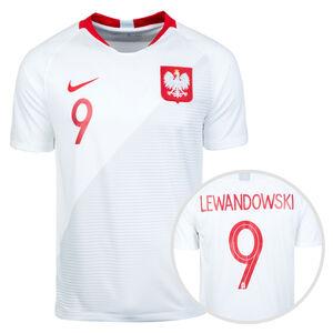 Polen Trikot Home Lewandowski WM 2018 Herren, Weiß, zoom bei OUTFITTER Online