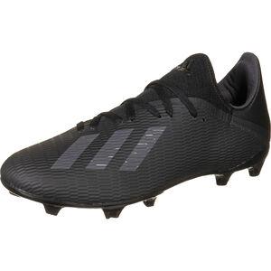 X 19.3 FG Fußballschuh Herren, schwarz / silber, zoom bei OUTFITTER Online
