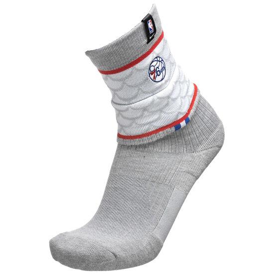 NBA Philadelphia 76ers Courtside Elite Socken, grau / weiß, zoom bei OUTFITTER Online