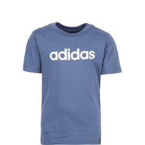 Essentials Linear T-Shirt Kinder, blau / weiß, zoom bei OUTFITTER Online