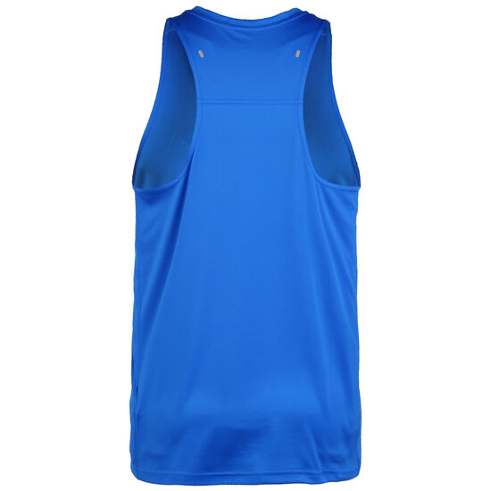 Own The Run 3-Streifen Lauftank Herren, blau / weiß, zoom bei OUTFITTER Online