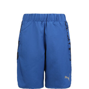 Active Sports AOP Woven Trainingsshort Kinder, blau, zoom bei OUTFITTER Online