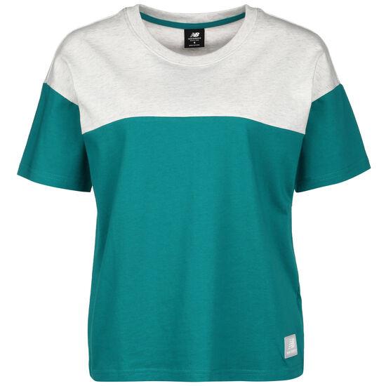 Athletics Terrain Blocked T-Shirt Damen, blau / beige, zoom bei OUTFITTER Online
