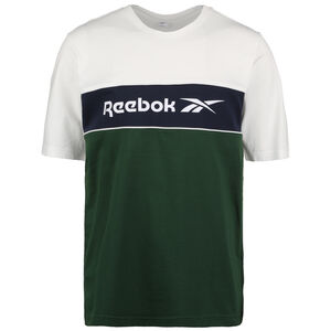 Classic Linear T-Shirt Herren, dunkelgrün / weiß, zoom bei OUTFITTER Online