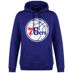 NBA Philadelphia 96ers Logo Fleece Kapuzenpullover Herren, blau / weiß, zoom bei OUTFITTER Online