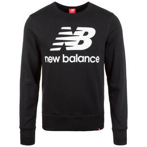 Essentials Logo Crew Sweatshirt Herren, schwarz / weiß, zoom bei OUTFITTER Online