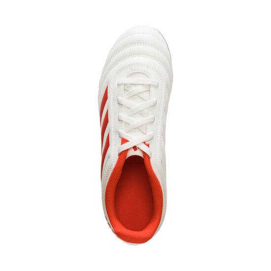 Copa 19.4 FG Fußballschuh Kinder, weiß / neonrot, zoom bei OUTFITTER Online