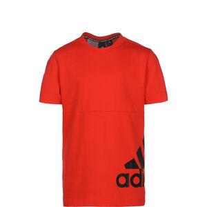 Must Haves Badge Of Sport Big Logo Trainingsshirt Kinder, neonrot / schwarz, zoom bei OUTFITTER Online