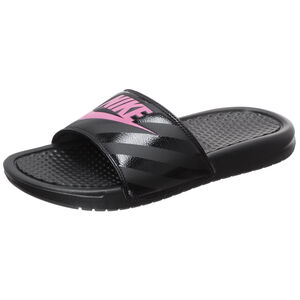 Benassi Just Do It Badesandale Damen, schwarz / pink, zoom bei OUTFITTER Online