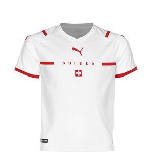 Schweiz Trikot Away EM 2021 Kinder, weiß / rot, zoom bei OUTFITTER Online