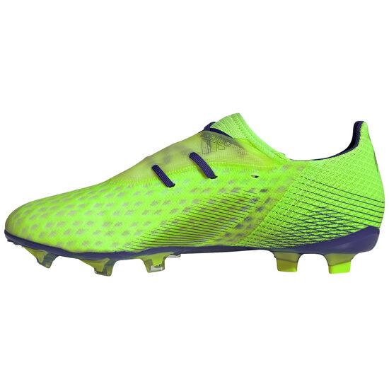 X Ghosted.2 FG Fußballschuh Herren, neongrün / blau, zoom bei OUTFITTER Online