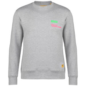Caterpillar Caution Roundneck Sweatshirt Herren, grau / grün, zoom bei OUTFITTER Online