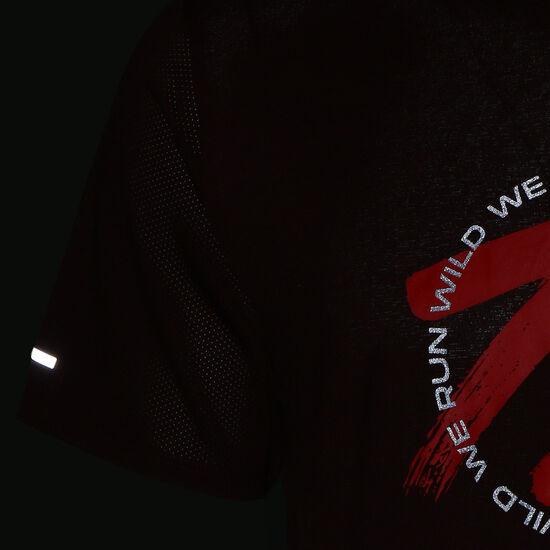 Dri-FIT Miler Wild Run Graphic Laufshirt Herren, bordeaux / rot, zoom bei OUTFITTER Online