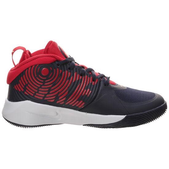 Team Hustle D 9 Basketballschuhe Kinder, blau / rot, zoom bei OUTFITTER Online