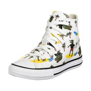 Chuck Taylor All Star Sneaker Kinder, weiß / neongelb, zoom bei OUTFITTER Online
