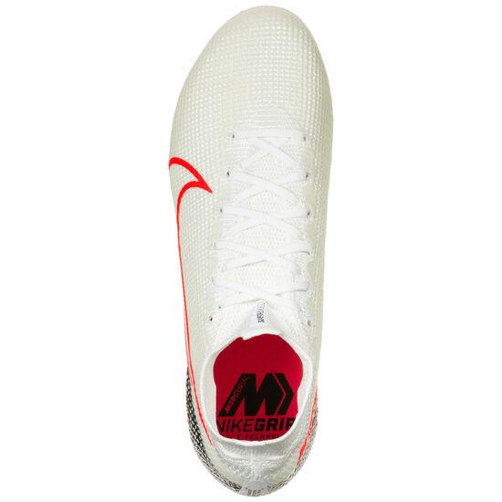 Mercurial Superfly 7 Elite DF FG Fußballschuh Herren, weiß / rot, zoom bei OUTFITTER Online