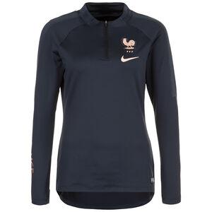 Frankreich FFF Dry Squad Drill Trainingsshirt Damen, dunkelblau, zoom bei OUTFITTER Online