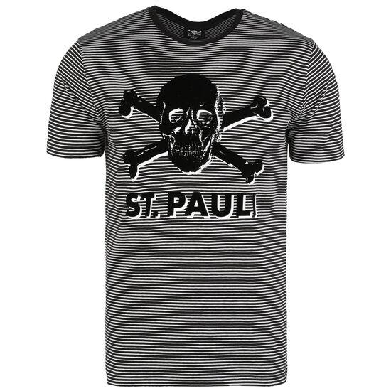 Stripe Terry T-Shirt Herren, schwarz / weiß, zoom bei OUTFITTER Online