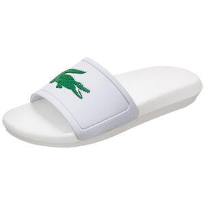 Croco Slide Badesandale Damen, weiß / grün, zoom bei OUTFITTER Online