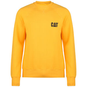 CAT Small Logo Roundneck Sweatshirt Herren, gelb, zoom bei OUTFITTER Online