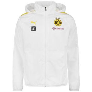 Borussia Dortmund Regenjacke Herren, weiß / neongelb, zoom bei OUTFITTER Online