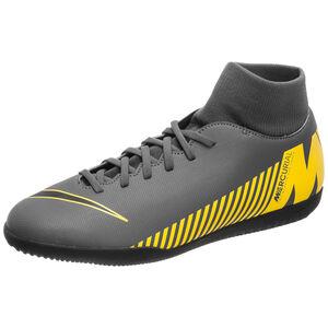 Mercurial SuperflyX VI Club Indoor Fußballschuh Herren, dunkelgrau / gelb, zoom bei OUTFITTER Online