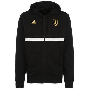 Juventus Turin 3S Kapuzenjacke Herren, schwarz / weiß, zoom bei OUTFITTER Online